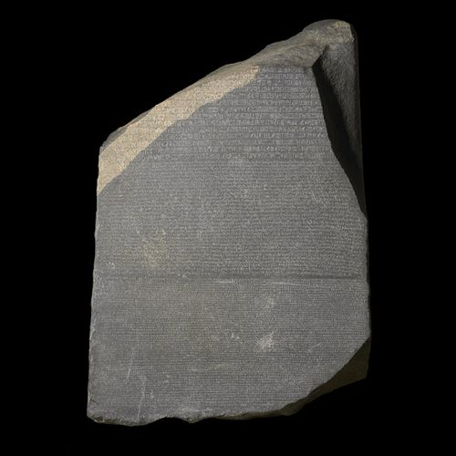 rosetta stone egyptian hieroglyphics. { Photo: The Rosetta Stone,