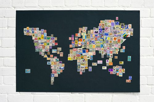 Stamp world note to self stamp world map by graphic designer marc alcock gumiabroncs Images