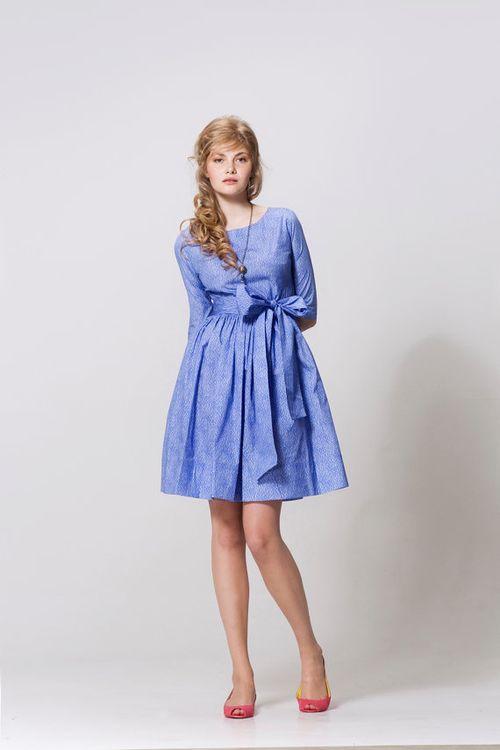 Sky Blue Summer Garden Party Dress (XS, S, M)