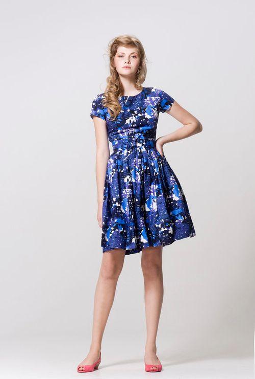 Impressionistic  Garden Party Dress (XS, S)