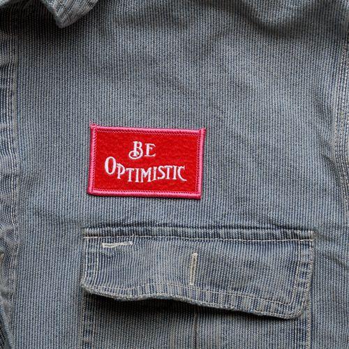 Be-optimistic-felt-badge